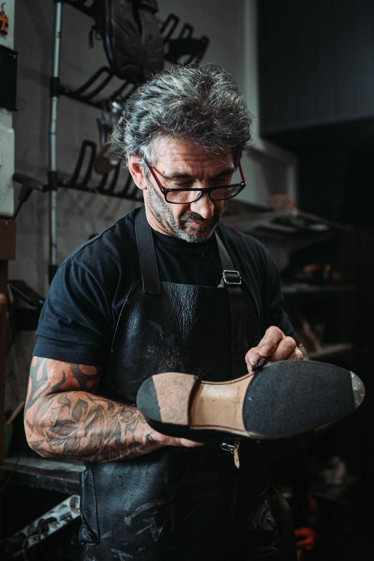 patin crêpe cordonnier chaussure minassian